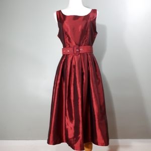 Lindy Bop Party Dress in Wine